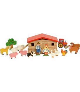 Wooden Farmyard and Animals