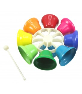 Rainbow Musical Spinning Bells - Musical Instrument