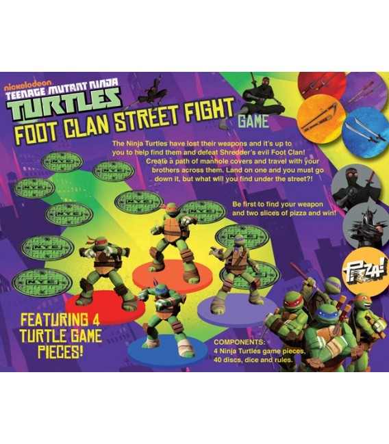 Teenage Mutant Ninja Turtles Tmnt Foot Clan Street Fight Board