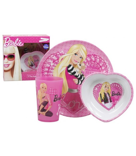 Barbie Melamine Dinner Box Set