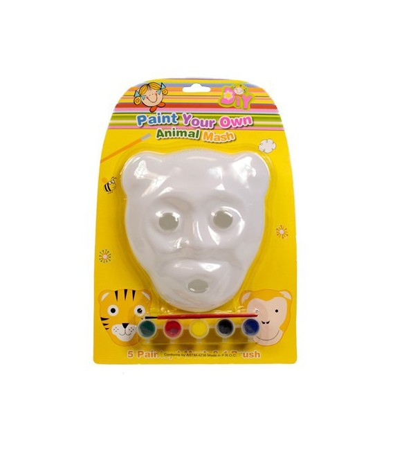 Paint Your Own Animal Mask Set