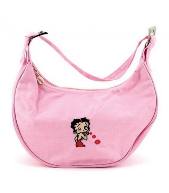 Betty Boop Cloth Half Moon Style Handbag Purse
