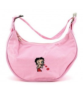 Betty Boop Cloth Half Moon Style Handbag Purse