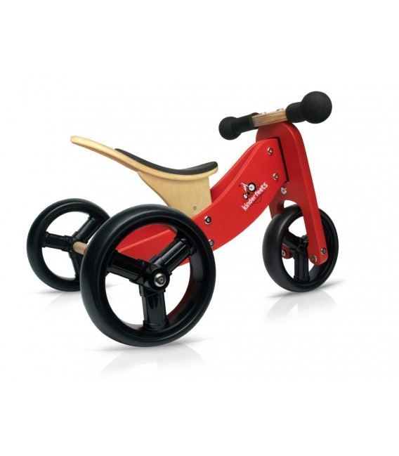 Kinderfeets Tiny Tot - Red - Convertible Trike / Bike