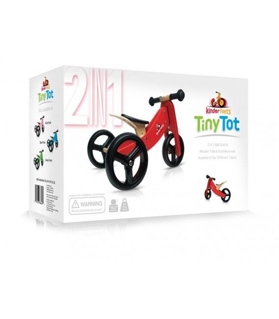 Kinderfeets Tiny Tot - Blue - Convertible Trike / Bike