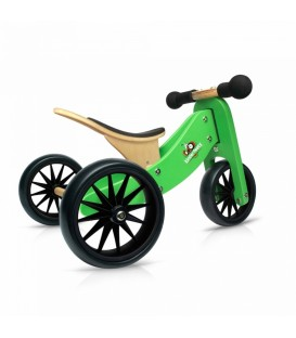 Kinderfeets Tiny Tot - Green - Convertible Trike / Bike