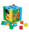 Traditional Wooden Puzzle Cube Sorter