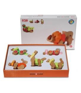 Zoo and Car Set (Piggy, Lion, Deer, Racoon, Tiger) - EQB