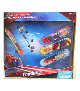 Spiderman Fingerboard Spiderman 4 Pack of 4 (With Tools)